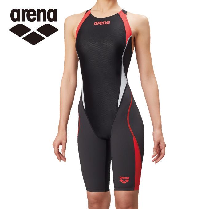 【5/5はクーポンで1000円引&エントリーかつカード利用で5倍】 アリーナ arena FINA承認 競泳水着 スパッツ レディース アクアハイブリッド セイフリーバックスパッツ 着やストラップ ARN-8080W-BKRG