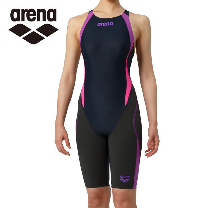 【5/5はクーポンで1000円引&エントリーかつカード利用で5倍】 アリーナ arena FINA承認 競泳水着 スパッツ レディース アクアハイブリッド セイフリーバックスパッツ 着やストラップ ARN-8080W-NVPP