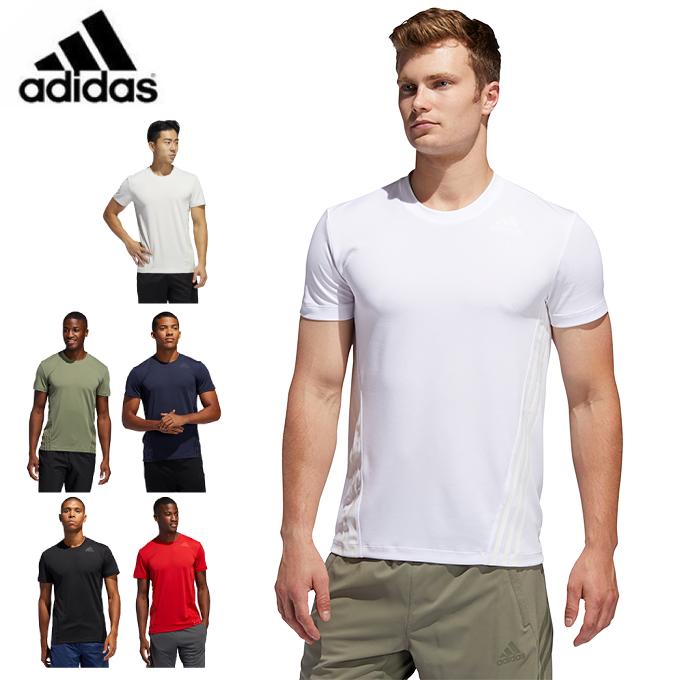 アディダス 日本産 スポーツウェア 半袖 メンズ AEROREADY 3ストライプス Tシャツ adidas GLC03 メイルオーダー Tee 3-Stripes