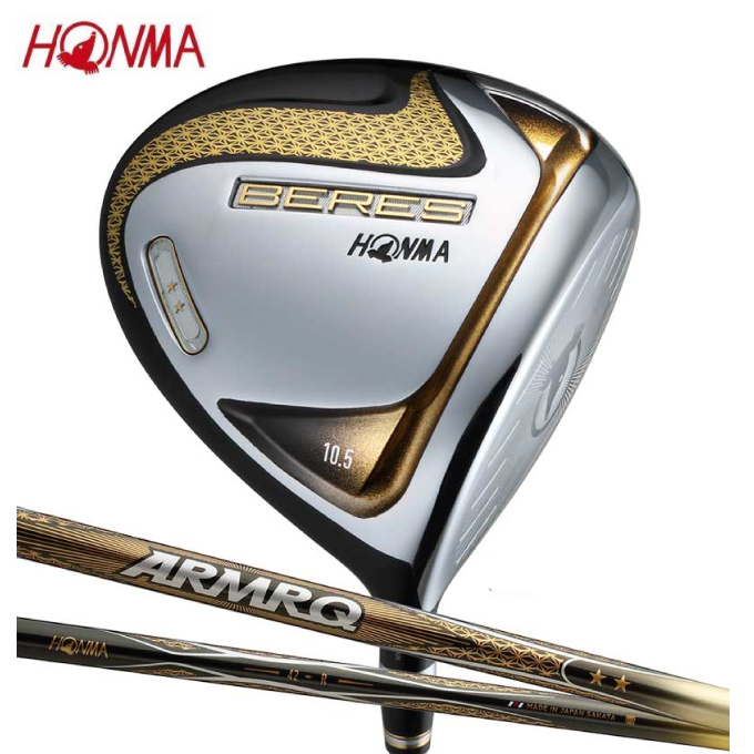 【5/5はクーポンで1000円引&エントリーかつカード利用で5倍】 本間ゴルフ HONMA ゴルフクラブ ドライバー メンズ BERES 1W-2Sグレード シャフト ARMRQ ZERO 47 2S