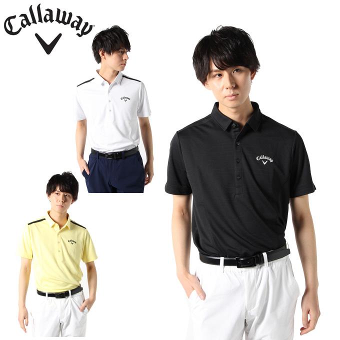 キャロウェイ ゴルフウェア ポロシャツ 半袖 メンズ AI柄ジャガード半袖シャツ 241-0134505 Callaway