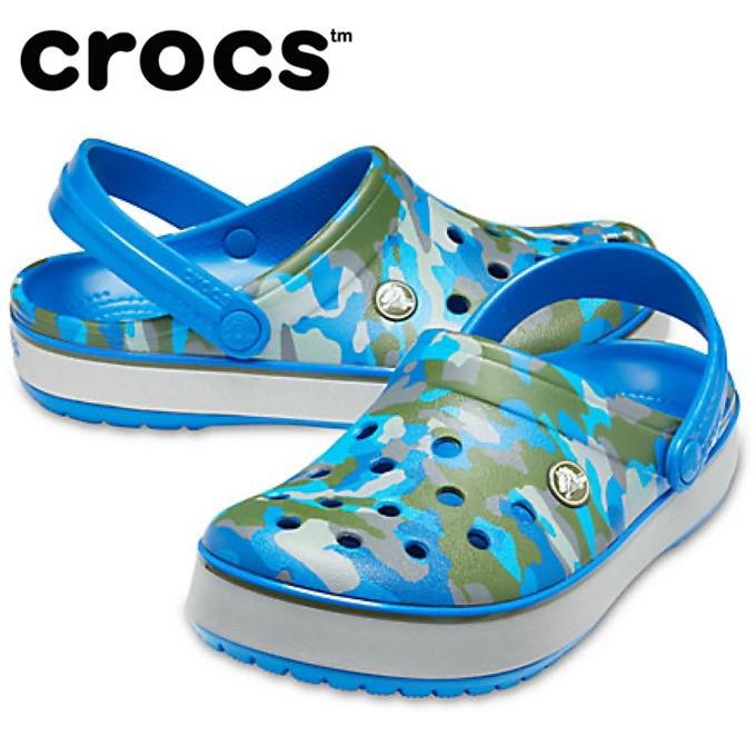 購入後レビュー記入でクーポンプレゼント中 クロックス クロックサンダル 新作続 メンズ 2020モデル Crocband Printed Clog クロックバンド プリンテッド 205834-4JU crocs クロッグ