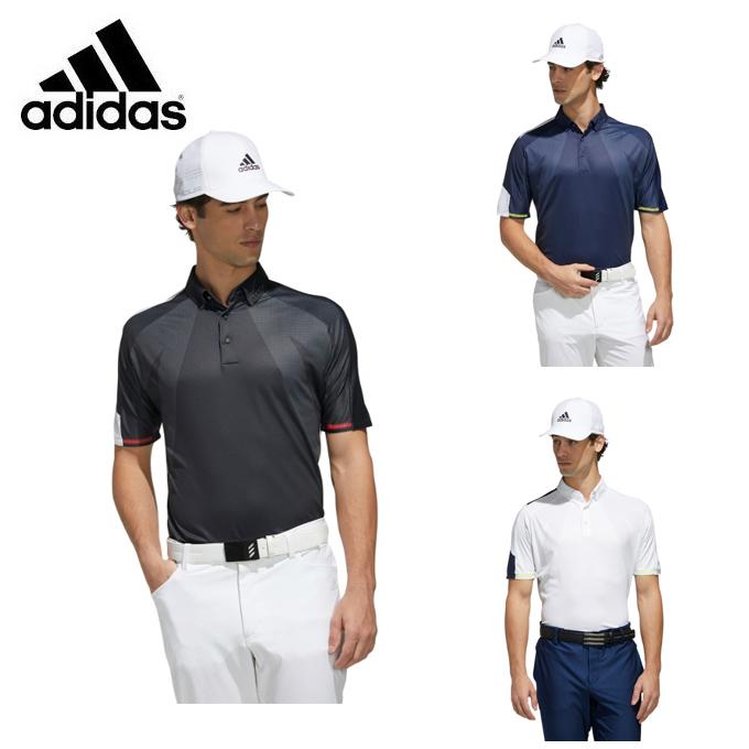 【5/5はクーポンで1000円引&エントリーかつカード利用で5倍】 アディダス ゴルフウェア 半袖シャツ メンズ シングルパネル半袖ボタンダウンシャツ GKI11 adidas