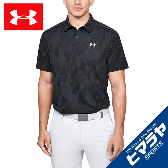アンダーアーマー ゴルフウェア ポロシャツ 半袖 メンズ UAバニッシュ ジャカード ポロ 1350217-001 UNDER ARMOUR
