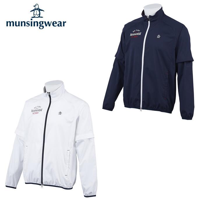 【ふるさと割】 マンシング Munsingwear ゴルフウェア ブルゾン メンズ ソロ袖ディタッチャブルブルゾン MGMPJK01X, だんだら 97d47ef1