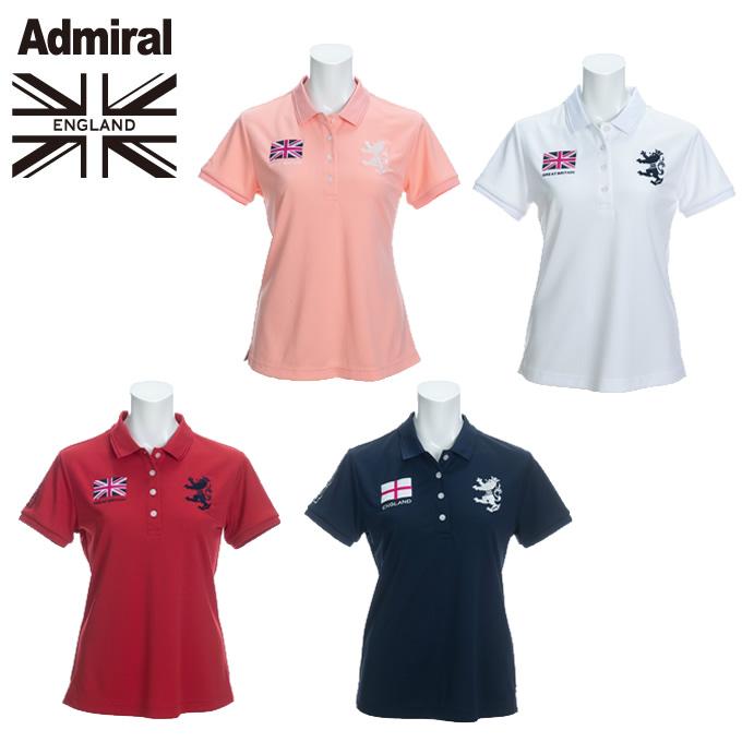 アドミラル Admiral ゴルフウェア ポロシャツ 半袖 レディース フラッグ半袖ポロシャツ ADLA026