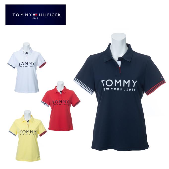 トミーヒルフィガーゴルフ TOMMY HILFIGER GOLF ゴルフウェア ポロシャツ 半袖 レディース チェストロゴ THLA008