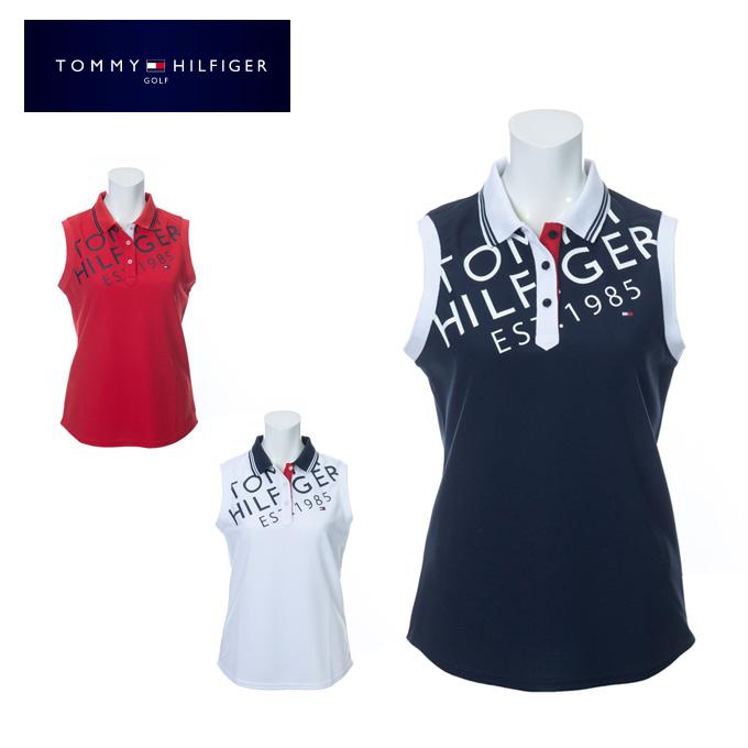 トミーヒルフィガーゴルフ TOMMY HILFIGER GOLF ゴルフウェア ノースリーブポロシャツ レディース バイアスロゴ THLA009