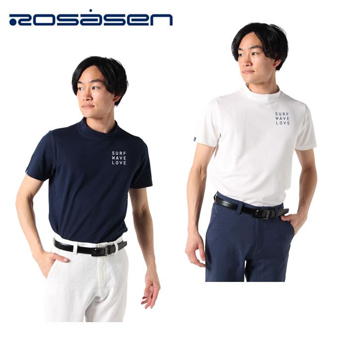 ロサーセン ROSASEN ゴルフウェア 半袖シャツ メンズ フォトグラファーモックネック 044-22449