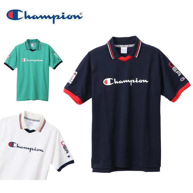 【購入後レビュー記入でクーポンプレゼント中】 チャンピオン Champion ゴルフウェア ポロシャツ 半袖 メンズ ロゴスキッパー半袖ポロ C3-RG320