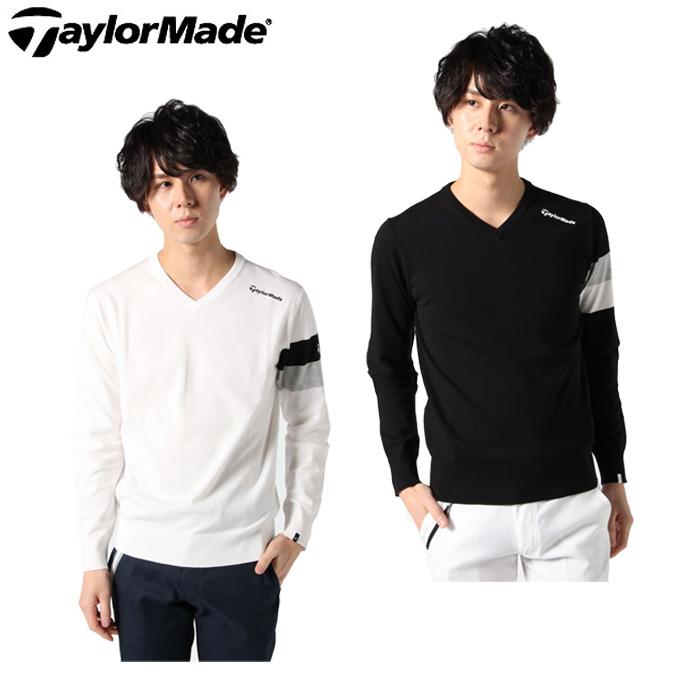 【エントリーで9倍 8/10~8/11まで】 テーラーメイド TaylorMade ゴルフウェア セーター メンズ ベーシックVネック KY806