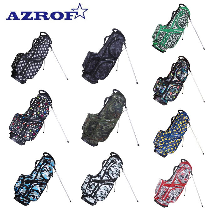 【エントリーで14倍 8/10~8/11まで】 アズロフ AZROF スタンドキャディバッグ メンズ レディース AZROF-STCB01