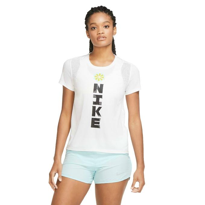 購入後レビュー記入でクーポンプレゼント中 新着セール ナイキ Tシャツ 半袖 レディース アイコンクラッシュ CU3051-100 GX NIKE S 返品不可 ラン