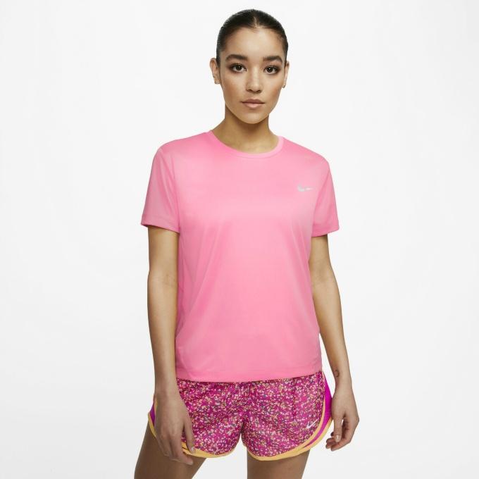 購入後レビュー記入でクーポンプレゼント中 ナイキ ランニングウェア Tシャツ 半袖 レディース マイラー AJ8122-607 現品 トップ 予約販売 NIKE S ウィメンズ