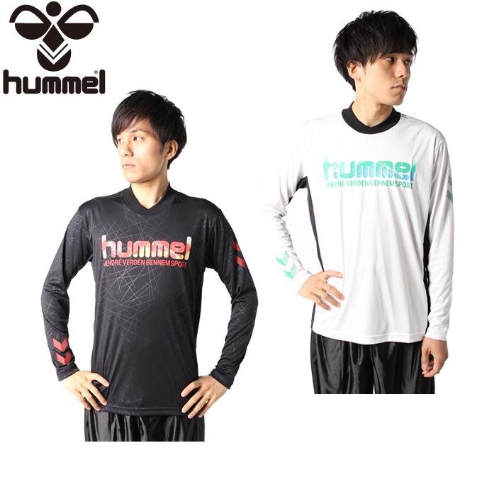 購入後レビュー記入でクーポンプレゼント中 ヒュンメル hummel ハンドボールウェア 商い メンズ 長袖プラクティスシャツ 爆買い新作 HAP7121 長袖シャツ