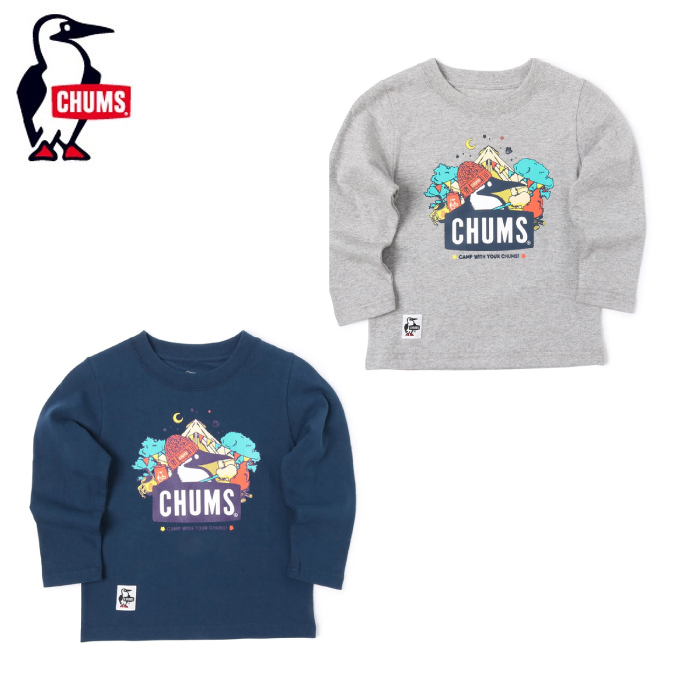 購入後レビュー記入でクーポンプレゼント中 チャムス CHUMS 長袖シャツ ジュニア 予約 Kds Marshmallow キッズマシュマロブービーロングスリーブTシャツ S CH21-1164 即納最大半額 T-Shirt Booby L