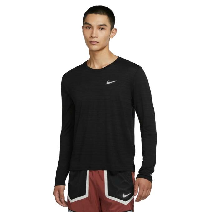 【購入後レビュー記入でクーポンプレゼント中】 ナイキ ランニングウェア Tシャツ 長袖 メンズ ドライフィット Miler Men's Long-Sleeve Running Top CU5990-010 NIKE