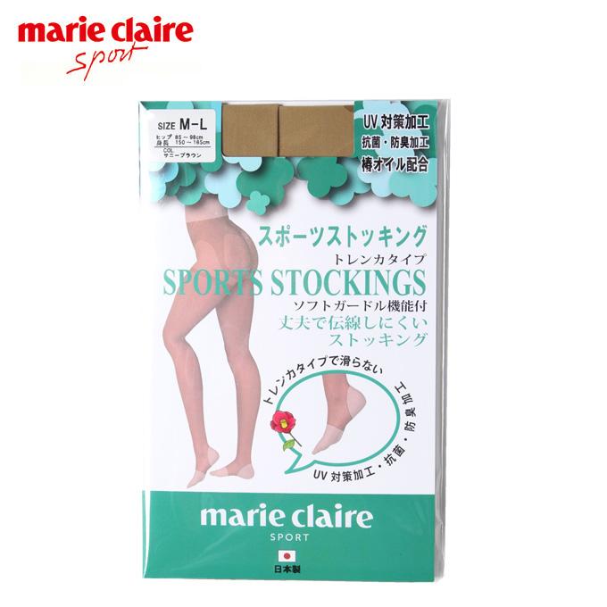 購入後レビュー記入でクーポンプレゼント中 マリクレール ショッピング marie claire 訳あり トレンカストッキング ゴルフストッキング UVサポート 711-972