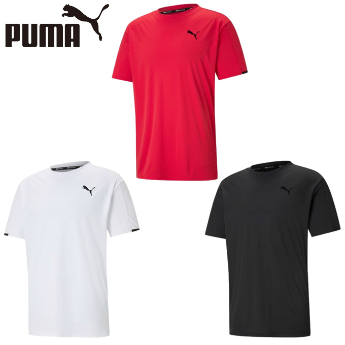 購入後レビュー記入でクーポンプレゼント中 プーマ Tシャツ 半袖 メンズ 宅配便送料無料 520742 グラフィック機能Tシャツ トレーニング 定番スタイル PUMA