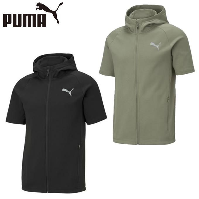出荷 購入後レビュー記入でクーポンプレゼント中 プーマ 半袖 スウェット メンズ 589106 ショートスリーブニットジャケット EVO PUMA 開店祝い