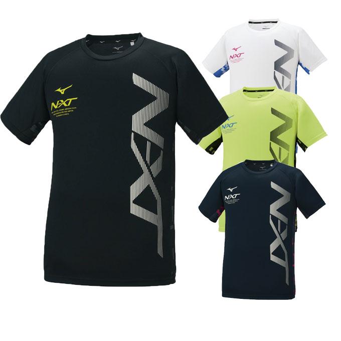 購入後レビュー記入でクーポンプレゼント中 ミズノ 期間限定送料無料 Tシャツ 半袖 メンズ N-XT レディース 特価キャンペーン 32JA1212 ビッグロゴ機能Tシャツ