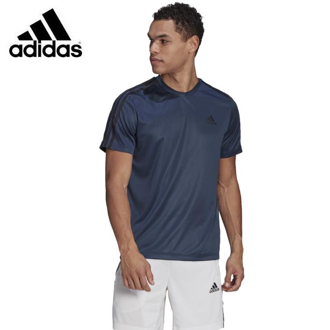 購入後レビュー記入でクーポンプレゼント中 アディダス Tシャツ 半袖 全品送料無料 メンズ 3ストライプス adidas 42274 GM2106 D2M お中元