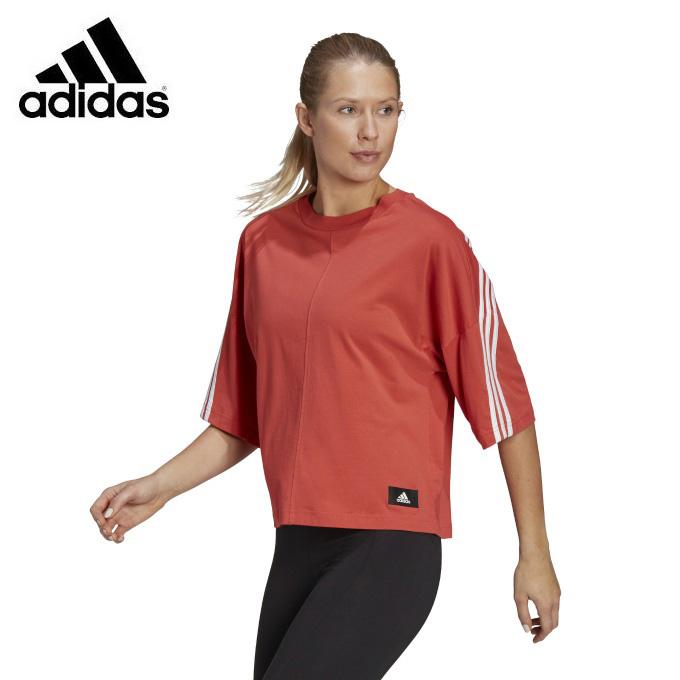 【購入後レビュー記入でクーポンプレゼント中】 アディダス Tシャツ 半袖 レディース フューチャー アイコンズ 3ストライプス Future Icons 3-Stripes Tee GN1839 60140 adidas