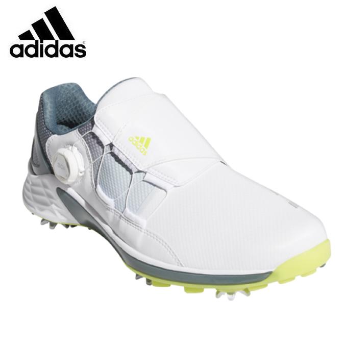 訳あり品送料無料 購入後レビュー記入でクーポンプレゼント中 アディダス 送料無料/新品 ゴルフシューズ ソフトスパイク メンズ ZG21 adidas ゼッドジー21 KZI02 BOA FW5554 ボア