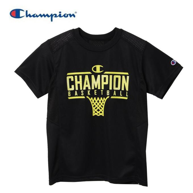 購入後レビュー記入でクーポンプレゼント中 チャンピオン Champion 送料込 バスケットボールウェア 半袖シャツ ミニ 送料無料カード決済可能 ベンチレーションTシャツ CK-TB314-090 ジュニア E-MOTION