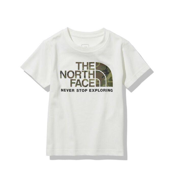 購入後レビュー記入でクーポンプレゼント中 ノースフェイス 半袖シャツ ジュニア ショートスリーブカモロゴティー FACE THE 保障 NTJ32145 W NORTH 2020モデル