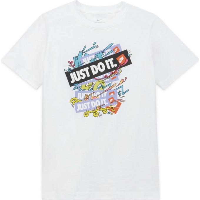 購入後レビュー記入でクーポンプレゼント中 通常便なら送料無料 ナイキ Tシャツ 半袖 ジュニア 公式サイト Kids' NIKE DH6524-100 T-Shirt Big