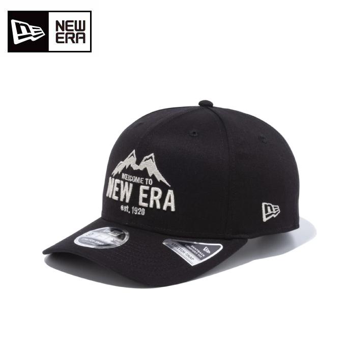 購入後レビュー記入でクーポンプレゼント中 ニューエラ NEW ERA 帽子 キャップ メンズ 新商品 蔵 レディース 9FIFTY 12854340 マウンテン ストレッチスナップ ブラック × メタリックシルバー