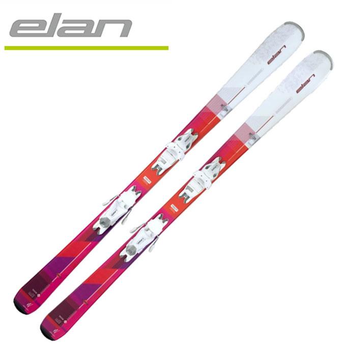 【店頭受取不可商品】エラン ELAN レディース スキー板セット 金具付 SNOW LS + EL7.5AC 【取付無料】