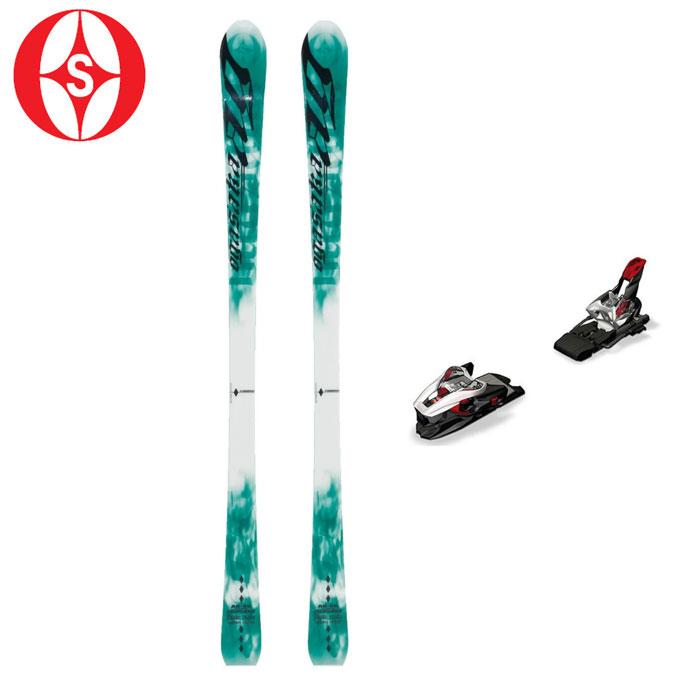 オガサカ OGASAKA メンズ レディース スキー板セット 金具付 AG-SR/G+XCELL 12.0 エージー+エクセル 【取付無料】