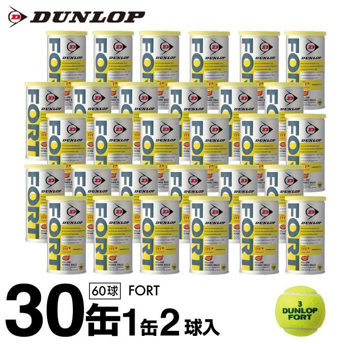 ダンロップ DUNLOP硬式テニスボールフォート FORT 2球×30缶セット TBST DFDYL2DOZ