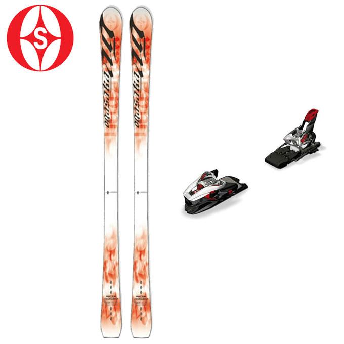 オガサカ OGASAKA メンズ レディース スキー板セット 金具付 AG-SR/R + XCELL 12.0 エージー+エクセル 【取付無料】