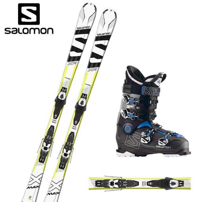 サロモン salomon スキー板 メンズ レディース スキー3点セット X-MAX XR +LITHIUM10-2+X PRO 90 エックス+ リチウム+ エックス 【取付無料】