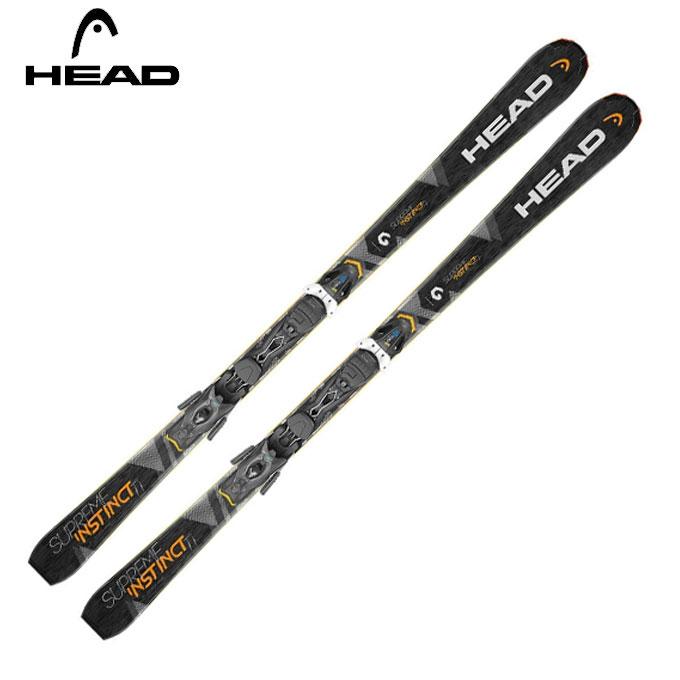 ヘッド HEAD メンズ レディース スキー板セット 金具付 SUPREME INSTINCT Ti + PR11 シュプリーム インスティンクト+ピーアール 【取付無料】