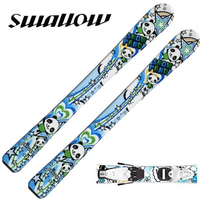 スワロー Swallow ジュニア スキー板セット 金具付 SNOWPANDA SAX+TEAM 4 スノーパンダ+チーム 子供用スキー 【取付無料】