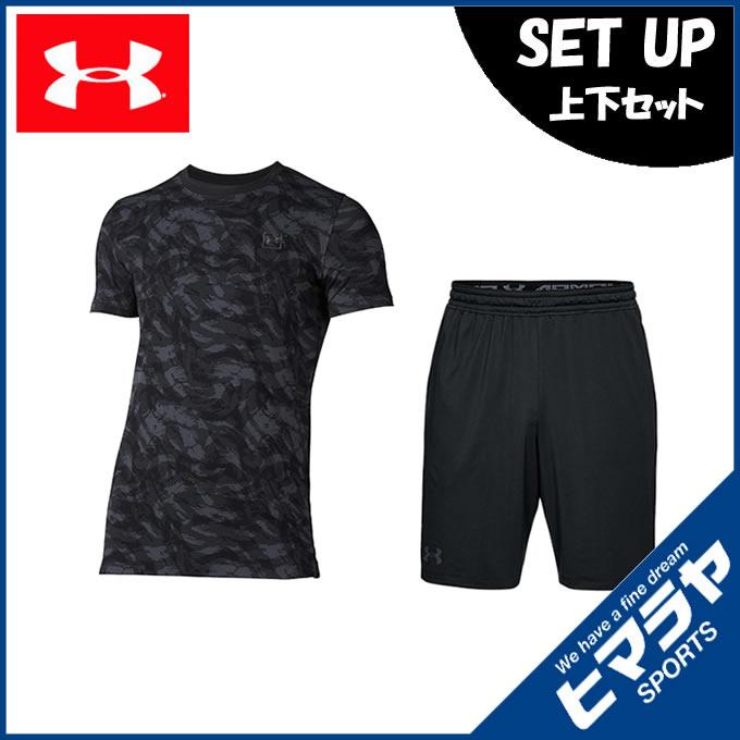 アンダーアーマー 半袖Tシャツ ハーフパンツ セット メンズ ライフスタイル Tシャツ + ショートパンツ 1305671-001 + 1306434-001 UNDER ARMOUR
