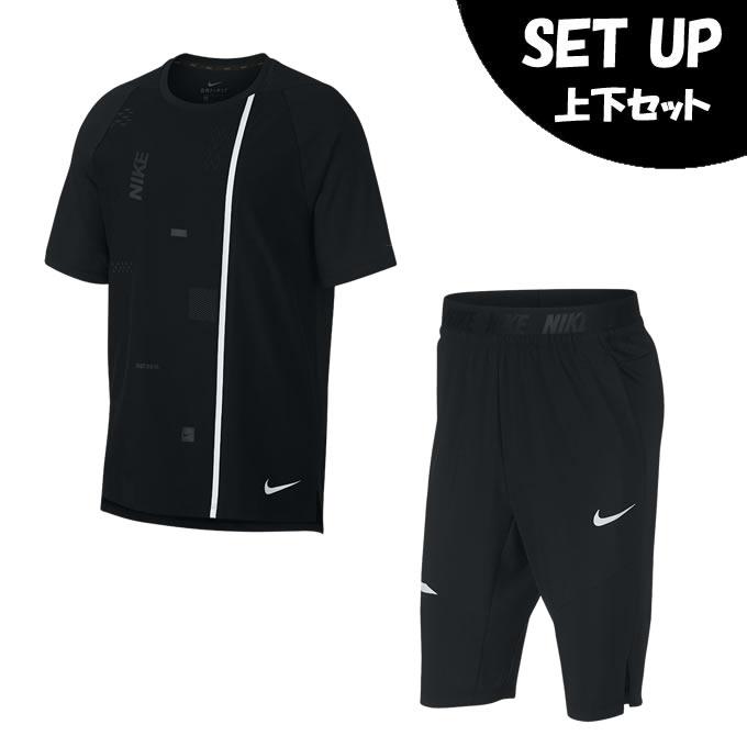 ナイキ 半袖Tシャツ ハーフパンツ セット メンズ フレックス PX S/S トップ 2.0 + DRI-FIT PX OTK ショート 2.0 AH9607-010 + AH9601-010 NIKE