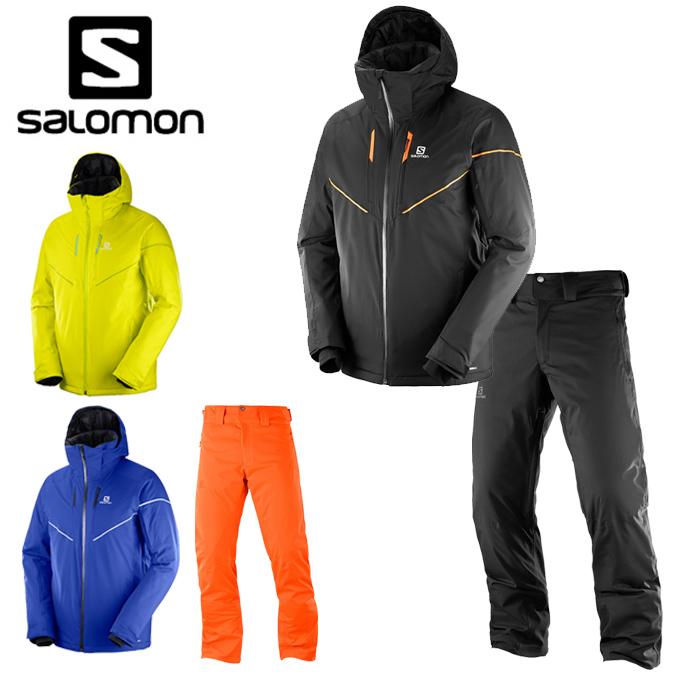 サロモン salomon スキーウェア 上下セット メンズ ストームレース ジャケット + ストームレース パンツ STORMRACE JKT M + STORMRACE PANT M