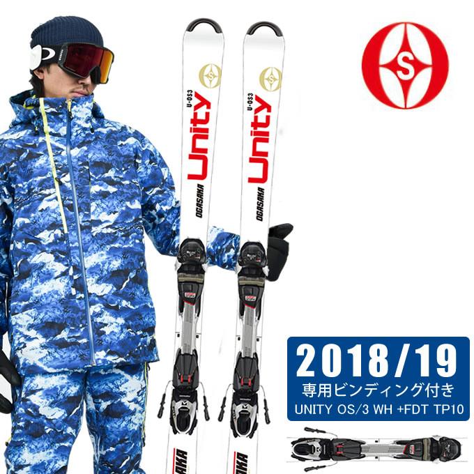 オガサカ OGASAKA スキー板セット 金具付 メンズ UNITY OS/3 WH +FDT TP10 ユニティー