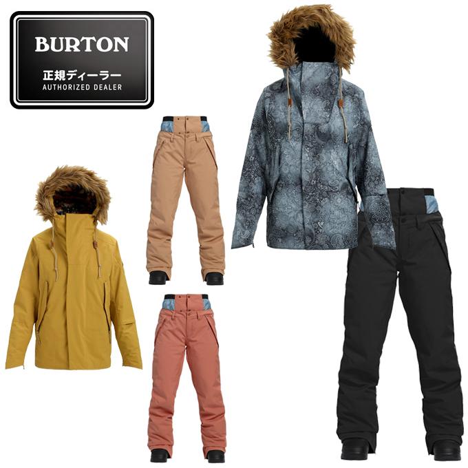 バートン BURTON スノーボードウェア 上下セット レディース ZINNIA JACKET + SOCIETY PANT 171951 + 101111