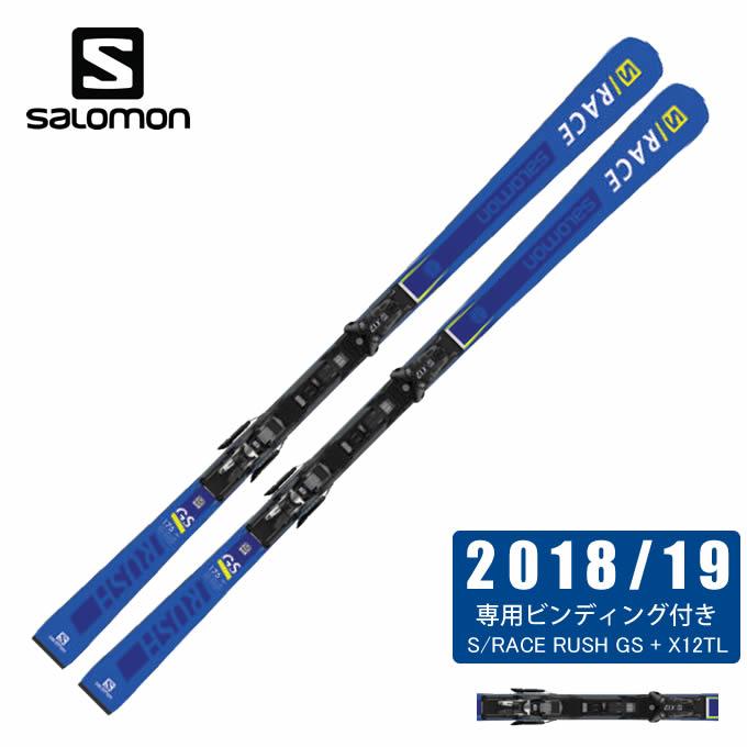 サロモン スキー板 セット金具付 メンズ スキー板+ビンディング S/RACE RUSH GS + X12TL salomon