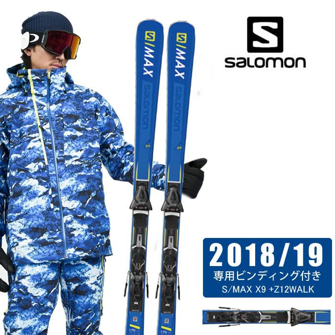 【ポイント3倍 10/11 8:59まで】 サロモン salomon スキー板セット 金具付 メンズ S/MAX X9 +Z12WALK エス マックス L40657300