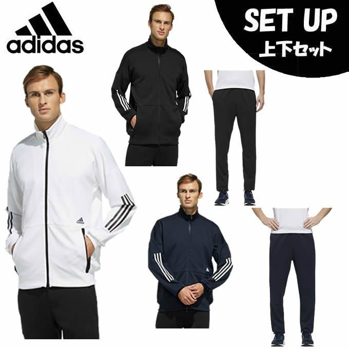 【エントリーで9倍 8/10~8/11まで】 アディダス スポーツウェア ジャージ 上下セット メンズ Tech ニットジャケット Tech Knit Jacket+Tech ウォームアップパンツ GUO11+GUN96 adidas