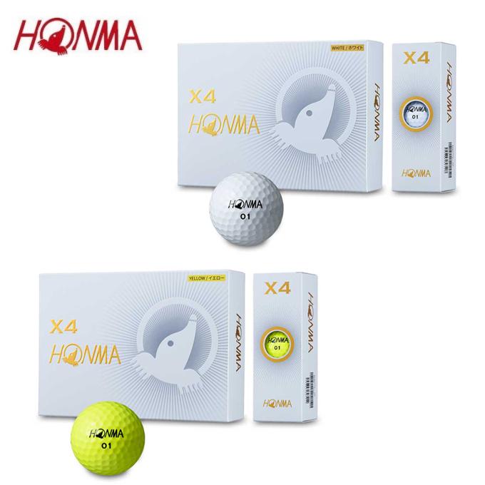 【基本送料無料 12/27 9:59まで】 本間ゴルフ HONMA ゴルフボール 1ダース 12個入 HONMA ホンマ X4ボール BTQ1906