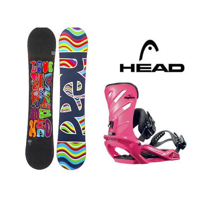 スノーボード 2点セット レディース ヘッド HEAD PEARL FLOCKA H+RHYTHM ボード+ビンディング