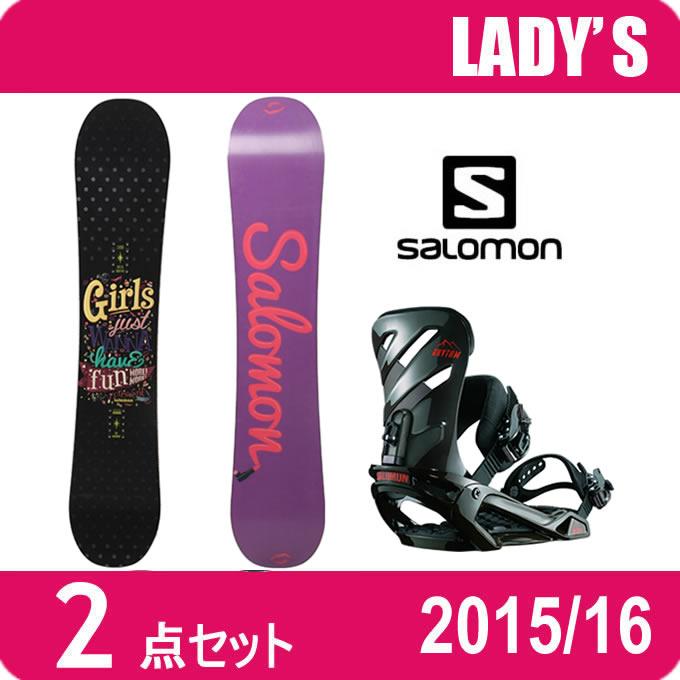 スノーボード 2点セット レディース サロモン salomon CRESCENT+RHYTHM ボード+ビンディング